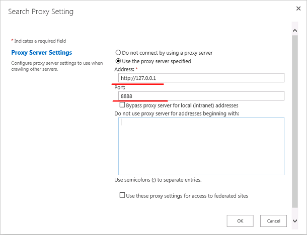 SharePoint 2013 Search Proxy Settings