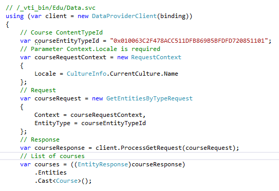 SharePoint Education API