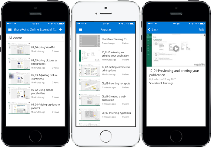 Office 365 Video iOS Application